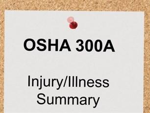employers must post osha 300a injury/illness summary from